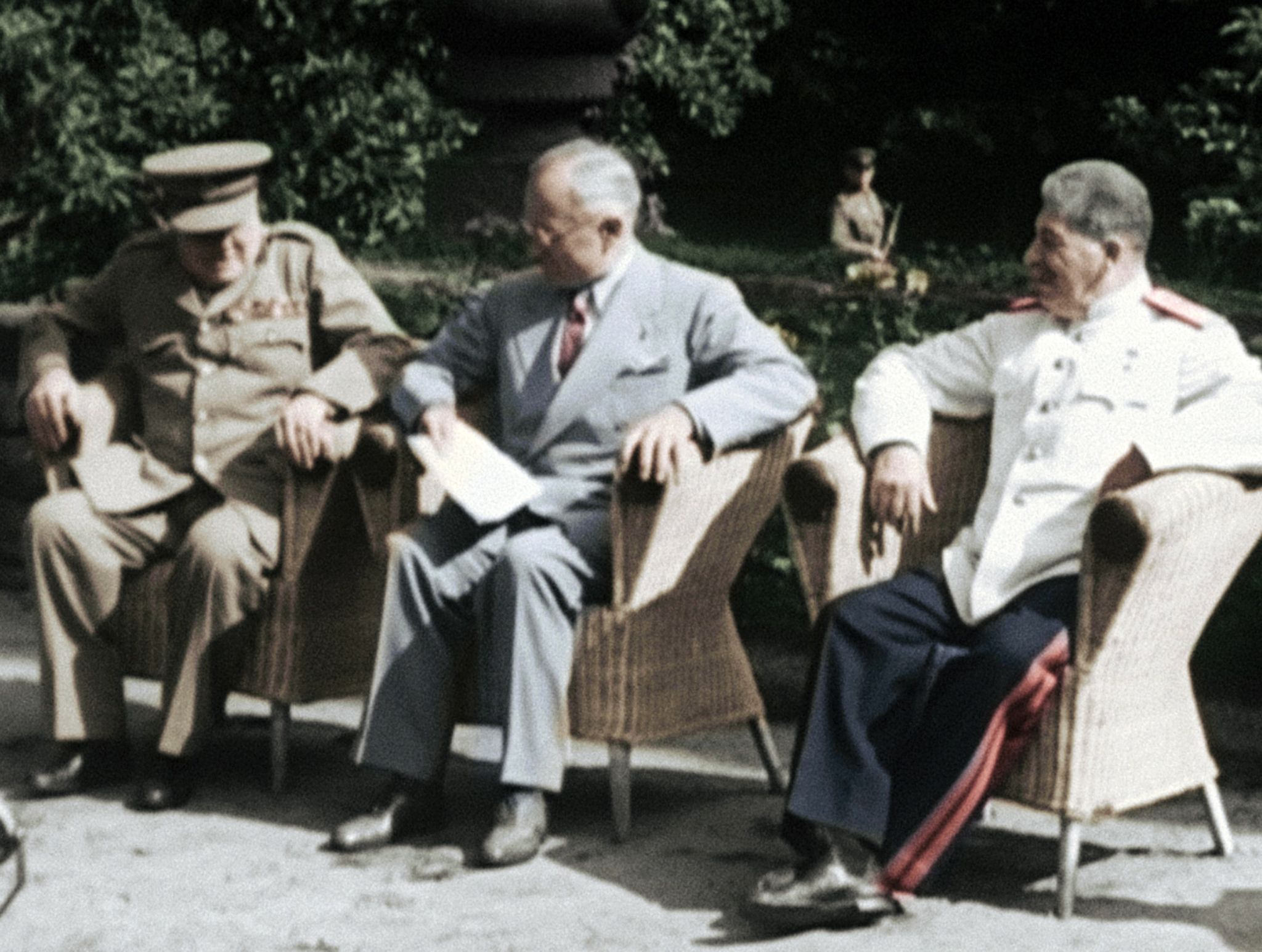Potsdam, Germany:  Churchill, Truman and Stalin at the Potsdam Conference.  This image is from... [Photo of the day - February 2020]