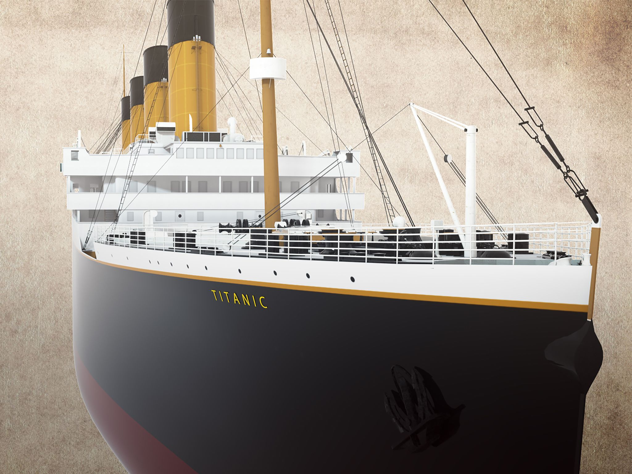 Model of the titanic. This image is from Back to the Titanic. [Photo of the day - April 2020]
