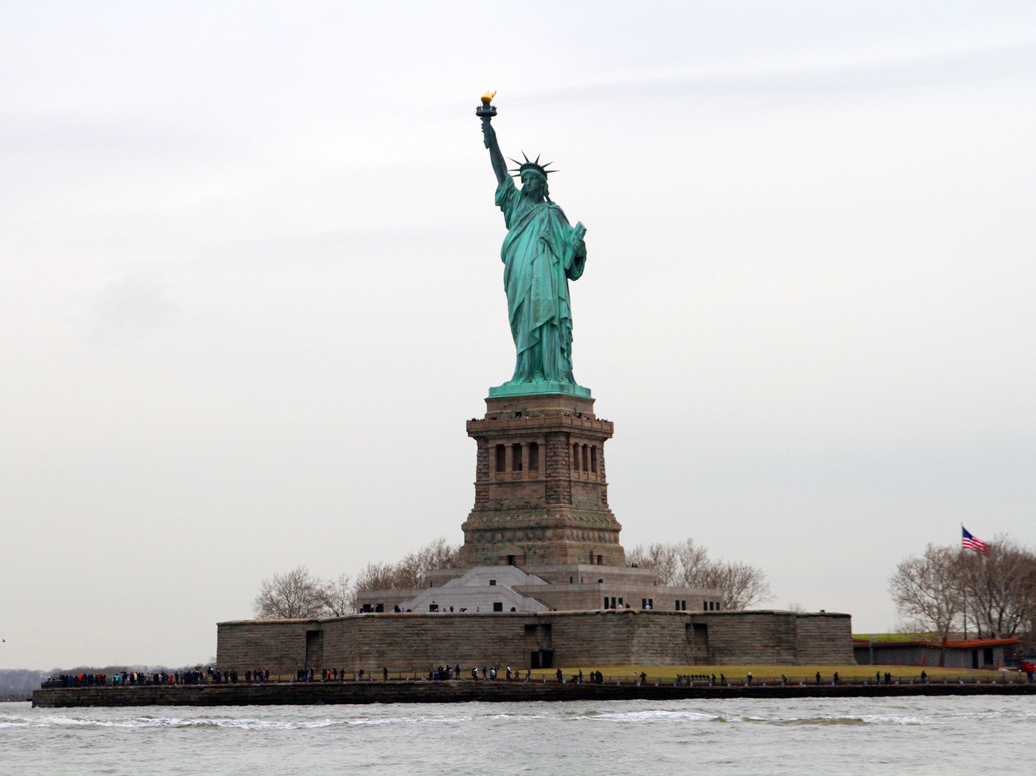 Wide photo of the Statue of Liberty.  This image is from Drain the Oceans. [Photo of the day - May 2020]