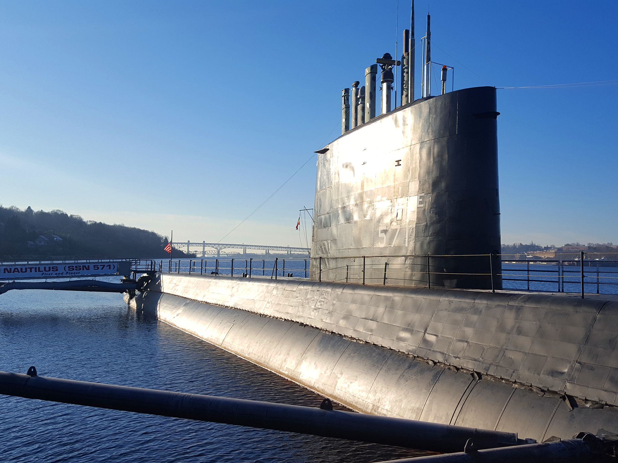 USS Nautilus:  the world's first nuclear-powered submarine.  This image is from Drain the Oceans. [Photo of the day - May 2020]