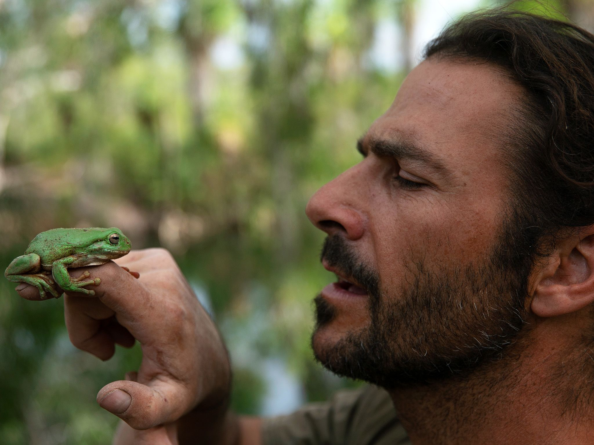 Hazen Audel finds a frog in a tree in the Australian outback. This image is from Ultimate... [Photo of the day - July 2020]