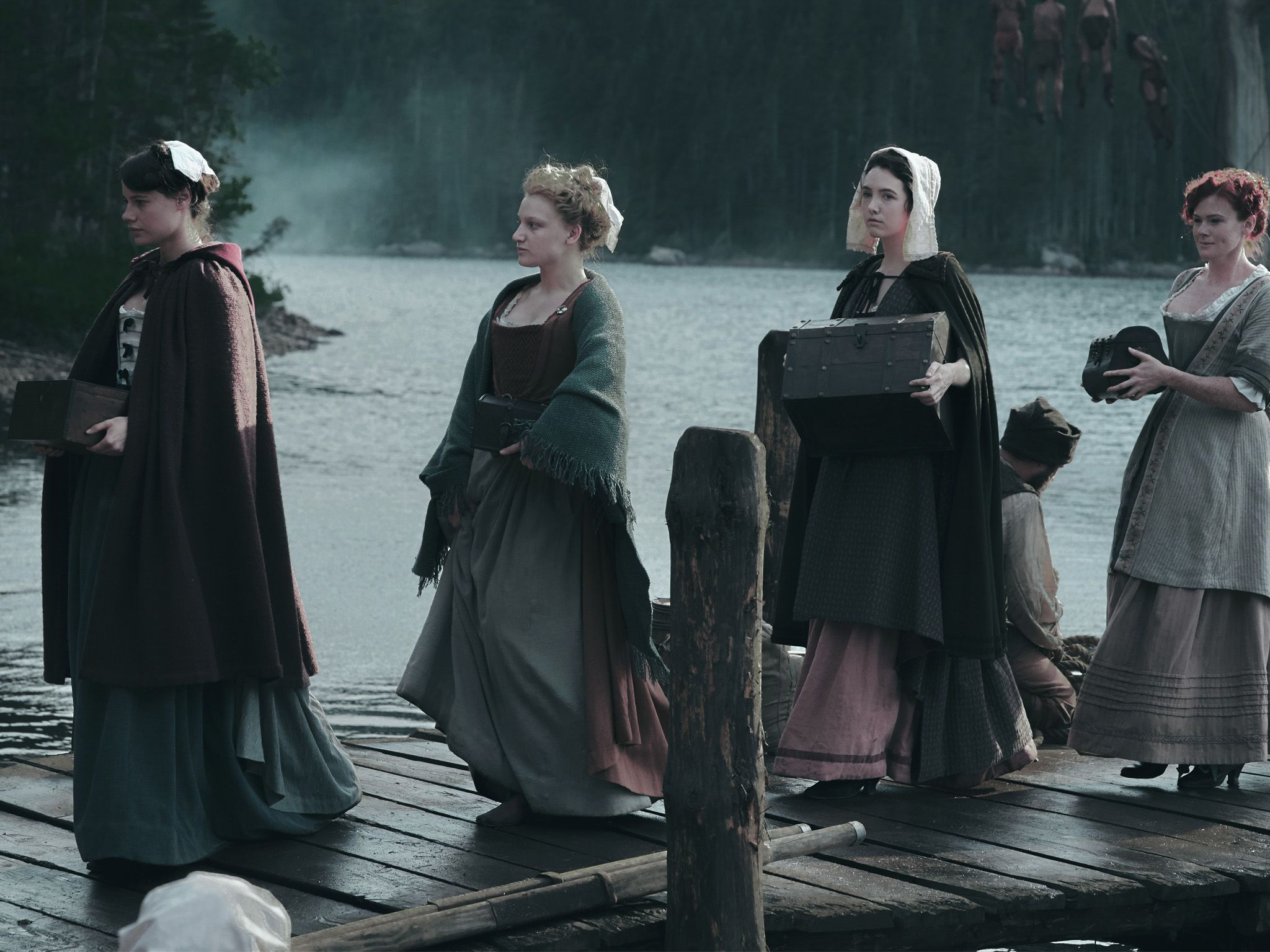 The Filles Du Roi exit the docks as they arrive in New France. This image is from Barkskins. [Photo of the day - August 2020]