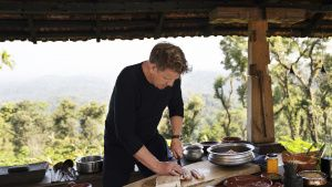 Gordon Ramsay cutting pork during... [Photo of the day -  9 AUGUST 2020]