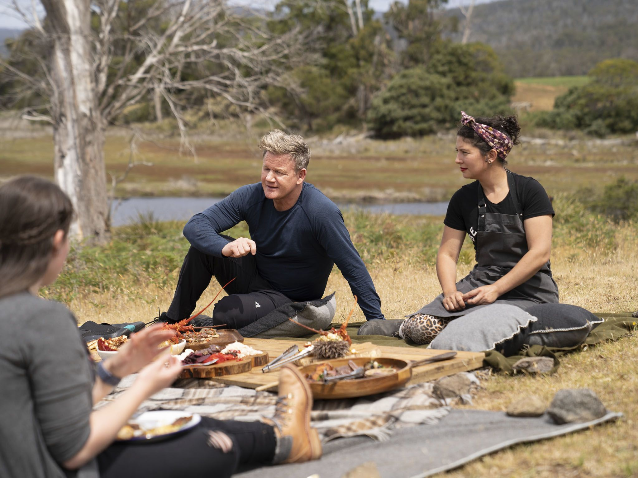 Gordon Ramsay and Chef Analiese Gregory receive feedback on their dishes during the big cook in... [Photo of the day - September 2020]