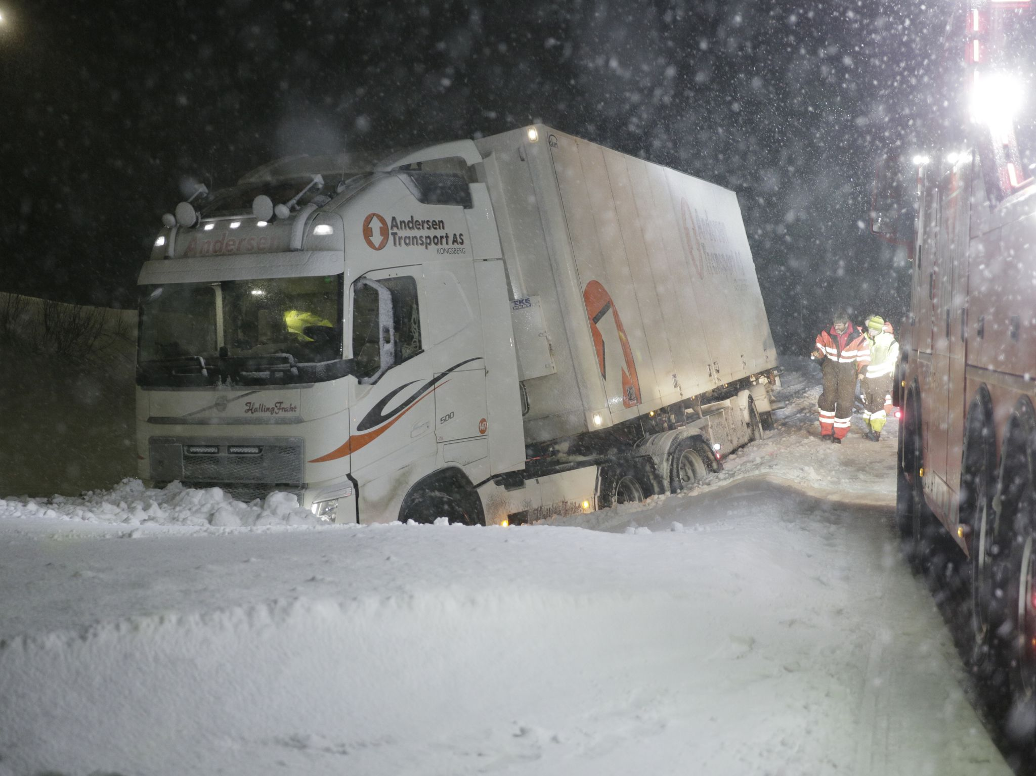 Two heavily loaded trailers have collided, head on head on an icy road. This image is from Ice... [Photo of the day - October 2020]