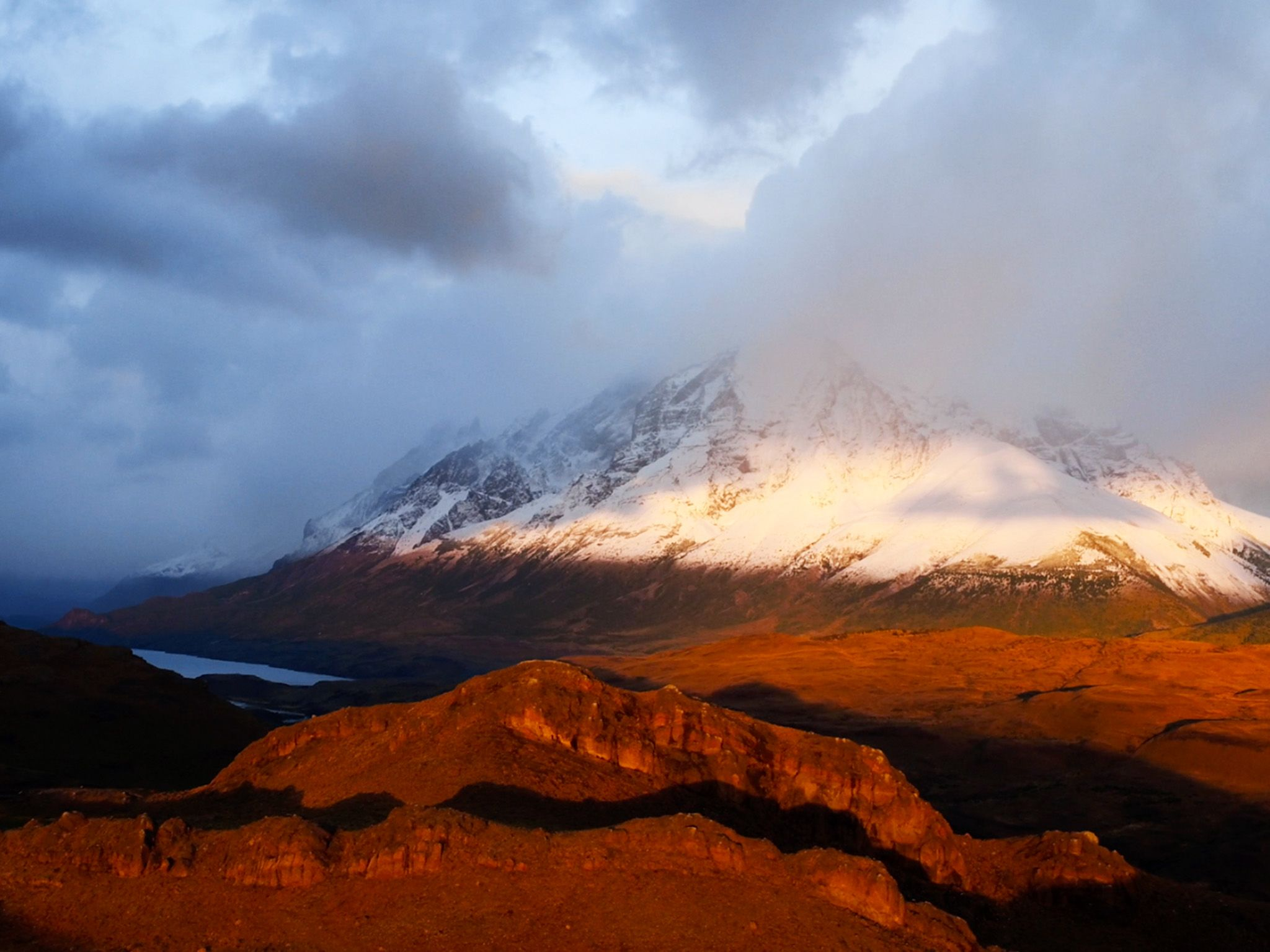 Torres del Paine mountain looming in the distance. This image is from Man vs. Puma. [Photo of the day - November 2020]