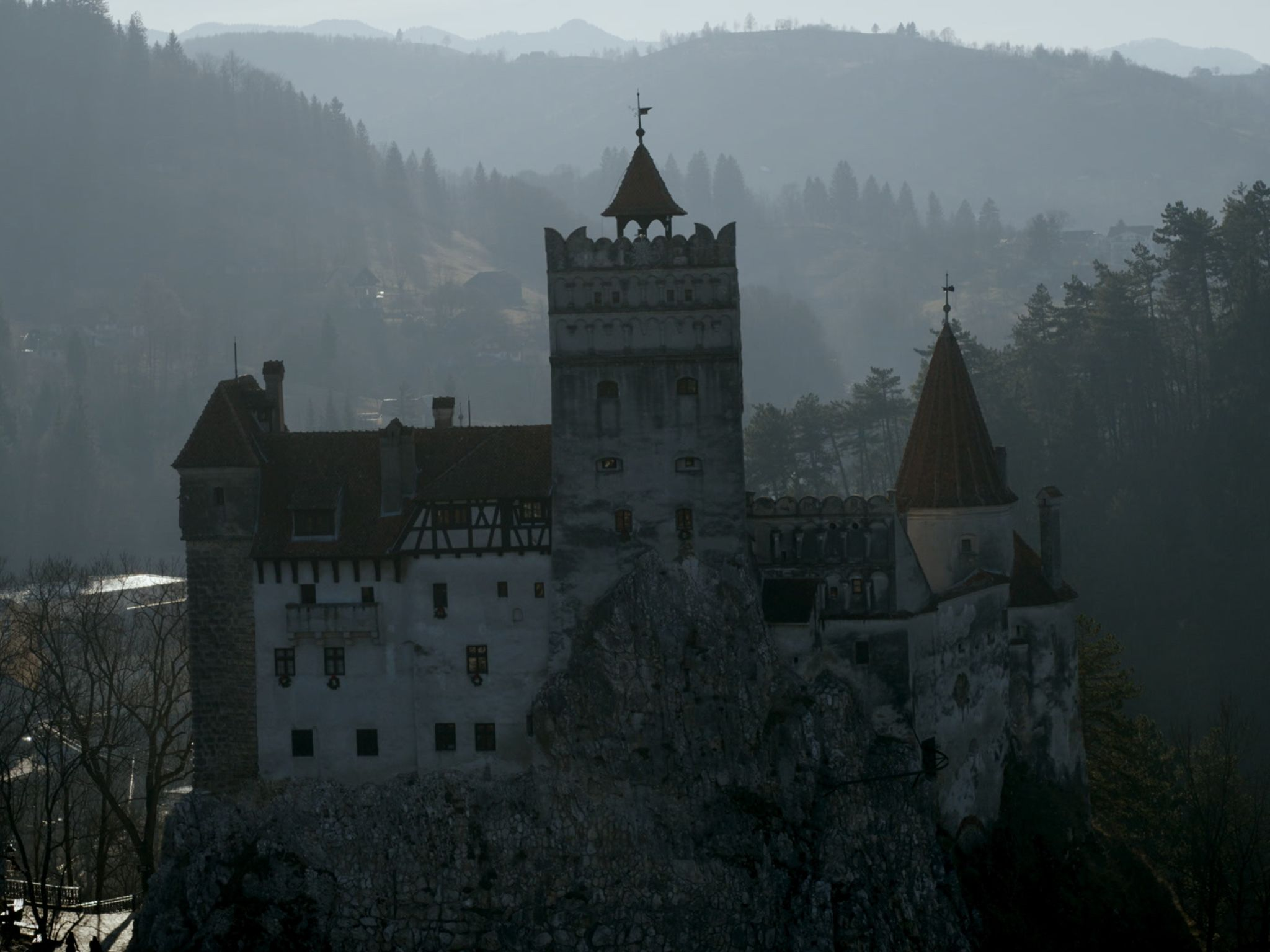 Bran Castle was the inspiration for Dracula. This image is from Atlas of Cursed Places. [Photo of the day - December 2020]