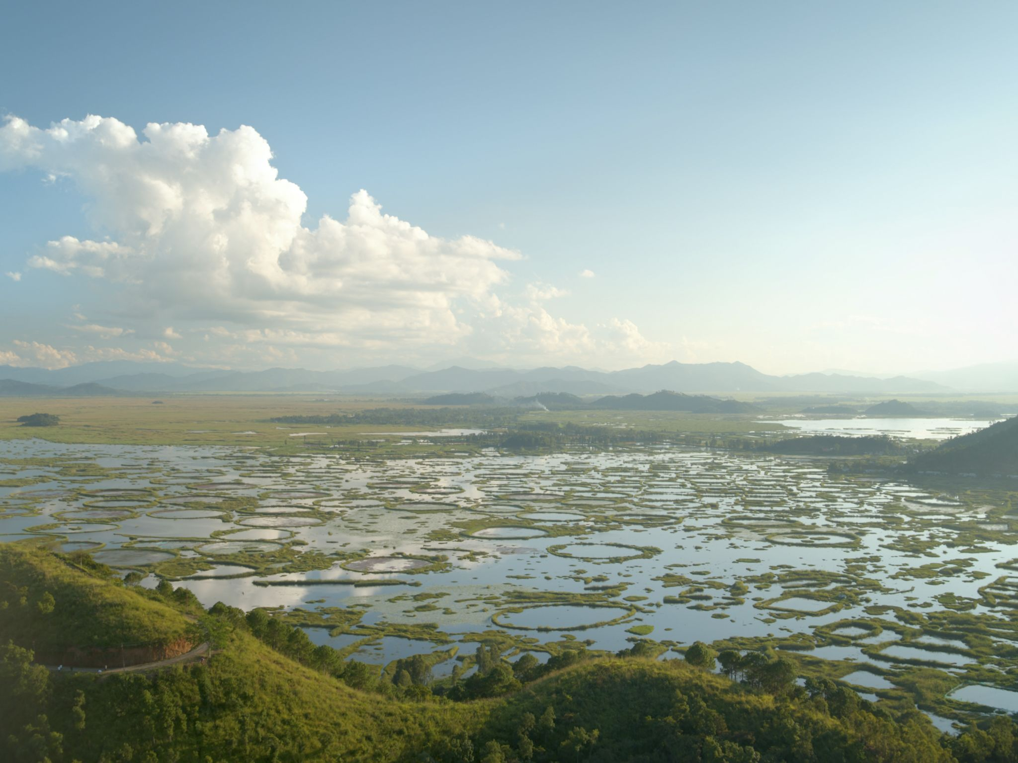 Loktak lake, a gem tucked away in the far northest of India. This image is from India from Above. [Photo of the day - December 2020]