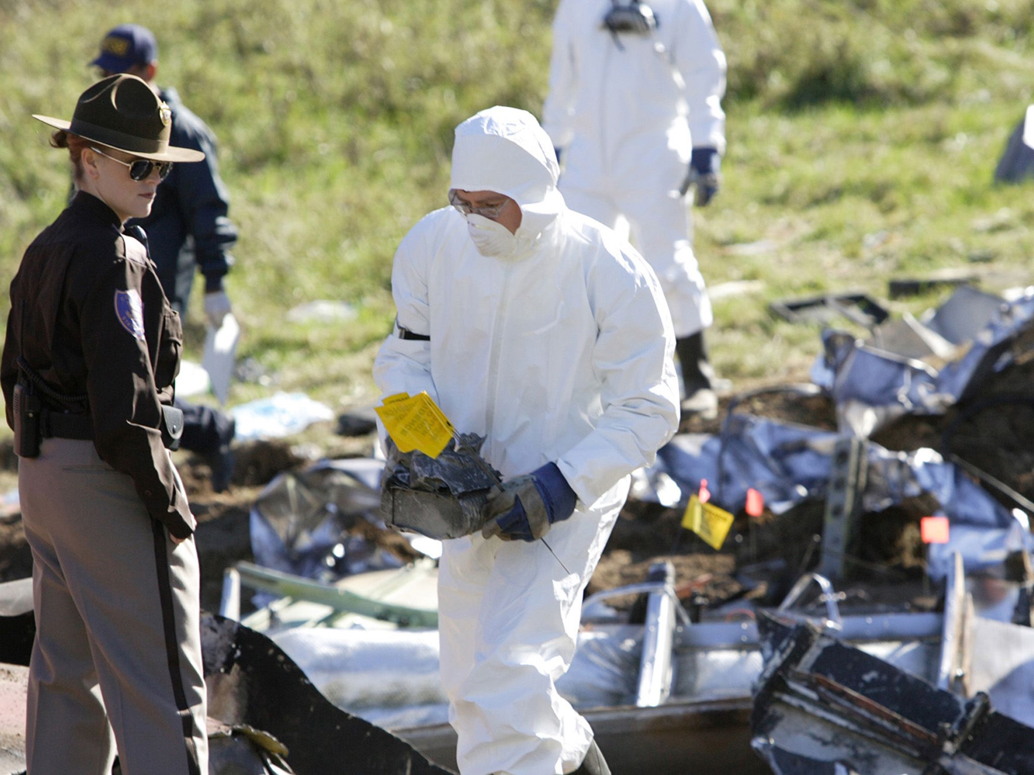 The NTSB recover evidence. This image is from Air Crash Investigation. [Photo of the day - January 2021]