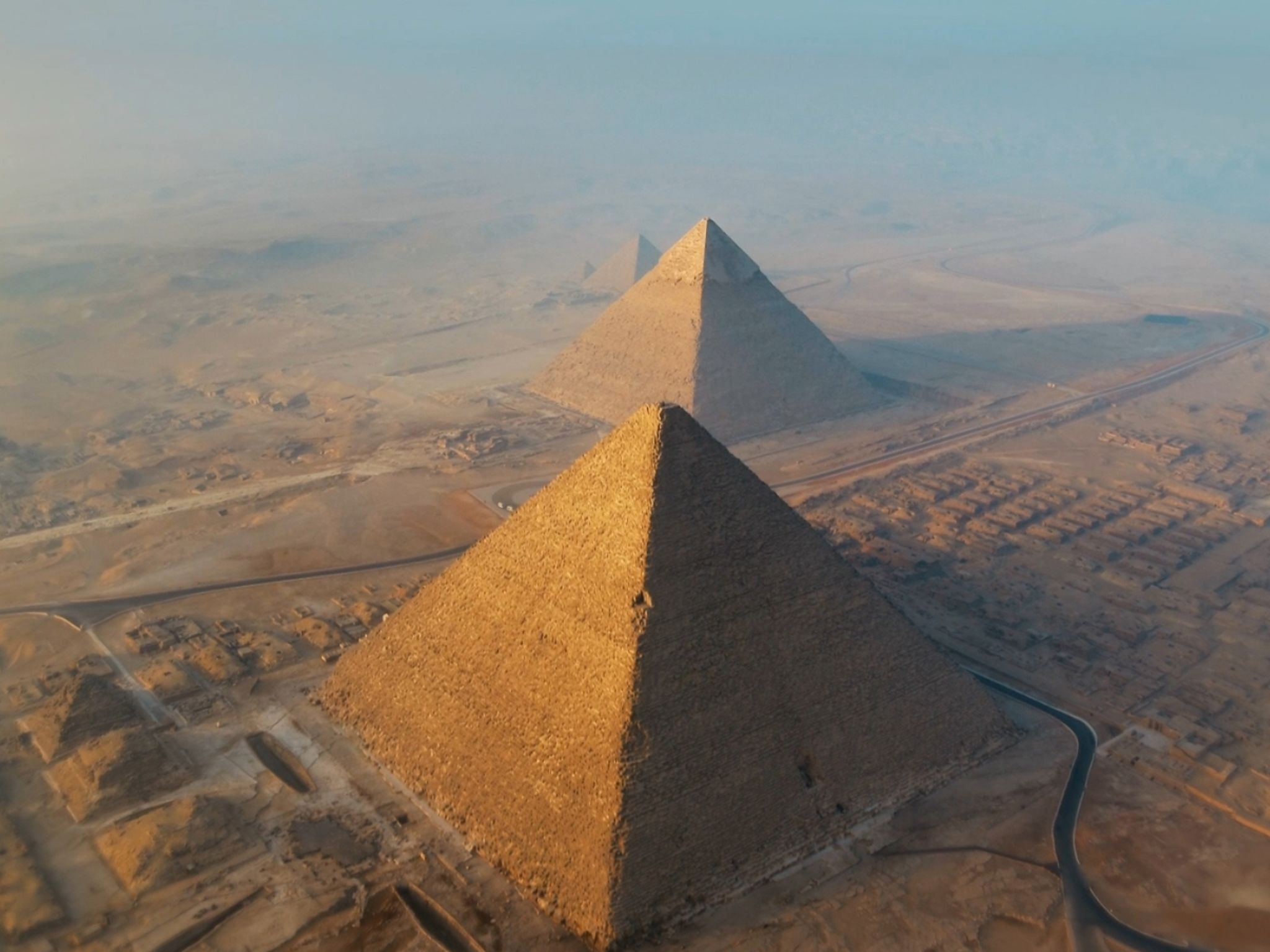 The Great Pyramids. This image is from Egypt from Above. [Photo of the day - January 2021]