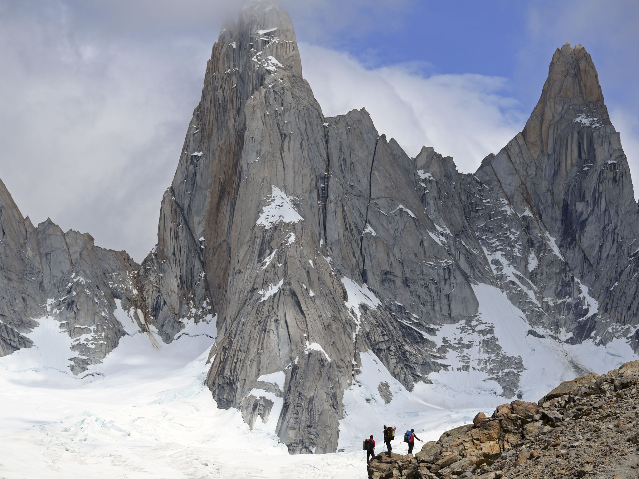 The Fitz Roy mountains. This image is from Patagonia Wings. [Photo of the day - January 2021]