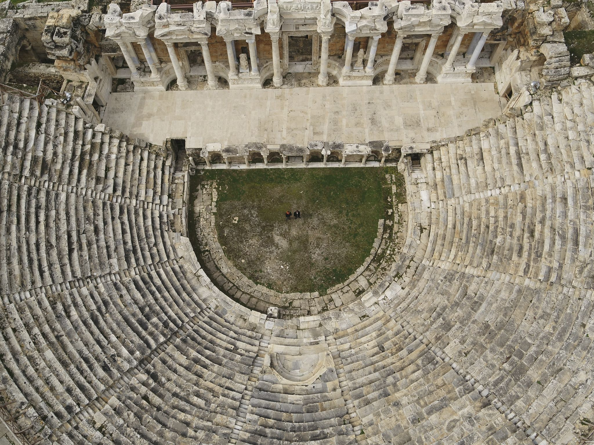 The Hierapolis amphitheater. This image is from Europe From Above. [Photo of the day - February 2020]