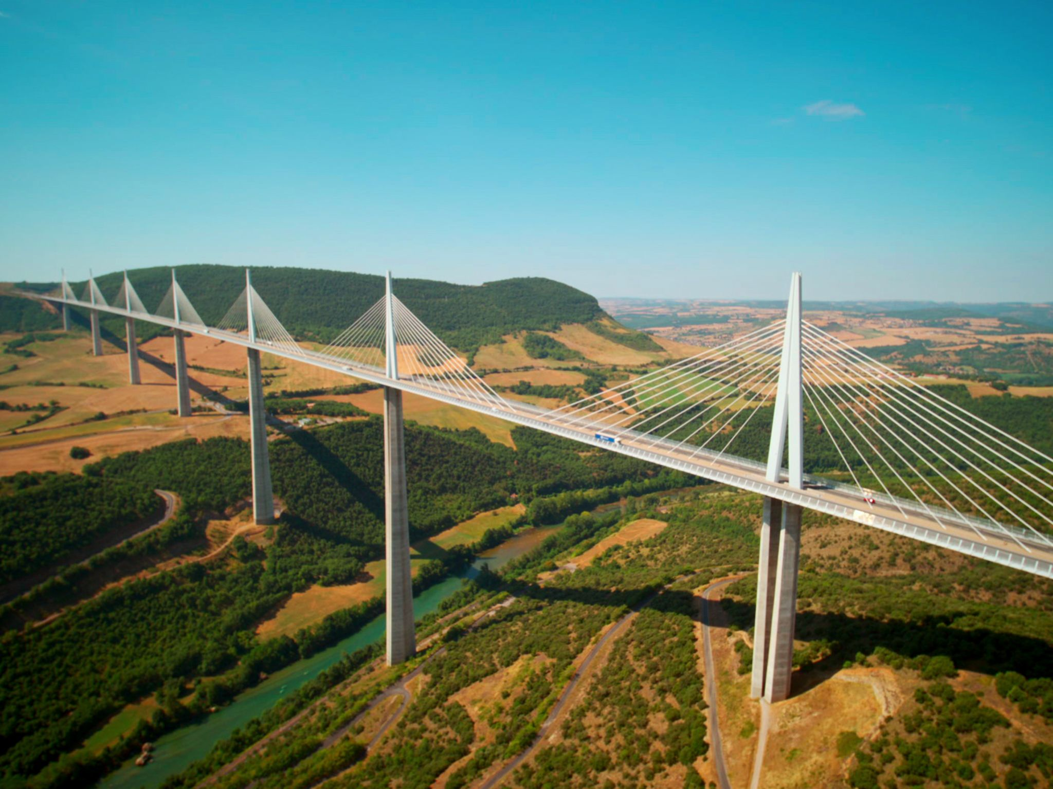 The Millau Viaduct. This image is from Europe from Above. [Photo of the day - February 2021]