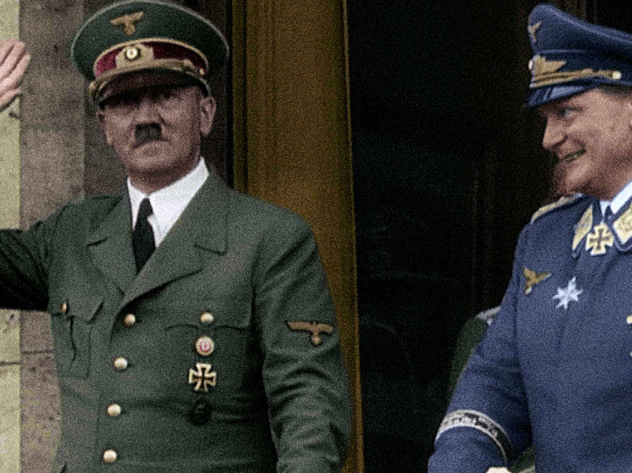 Hitler and Goering, leader of the Luftwaffe, greeting the German crowd. This image is from... [Photo of the day - March 2021]