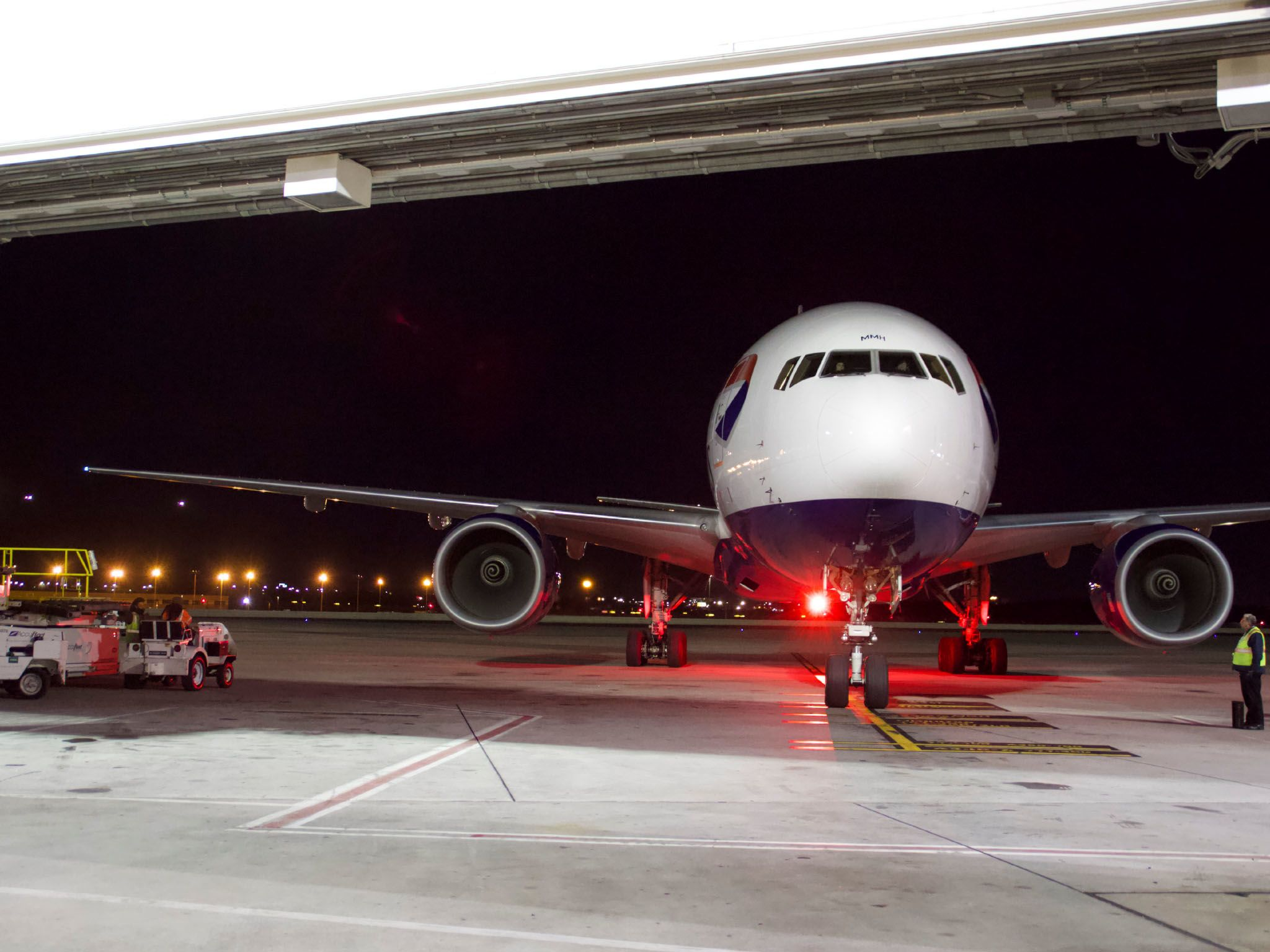 A plane arrives at International Cargo Facility. This image is from To Catch A Smuggler. [Photo of the day - March 2021]