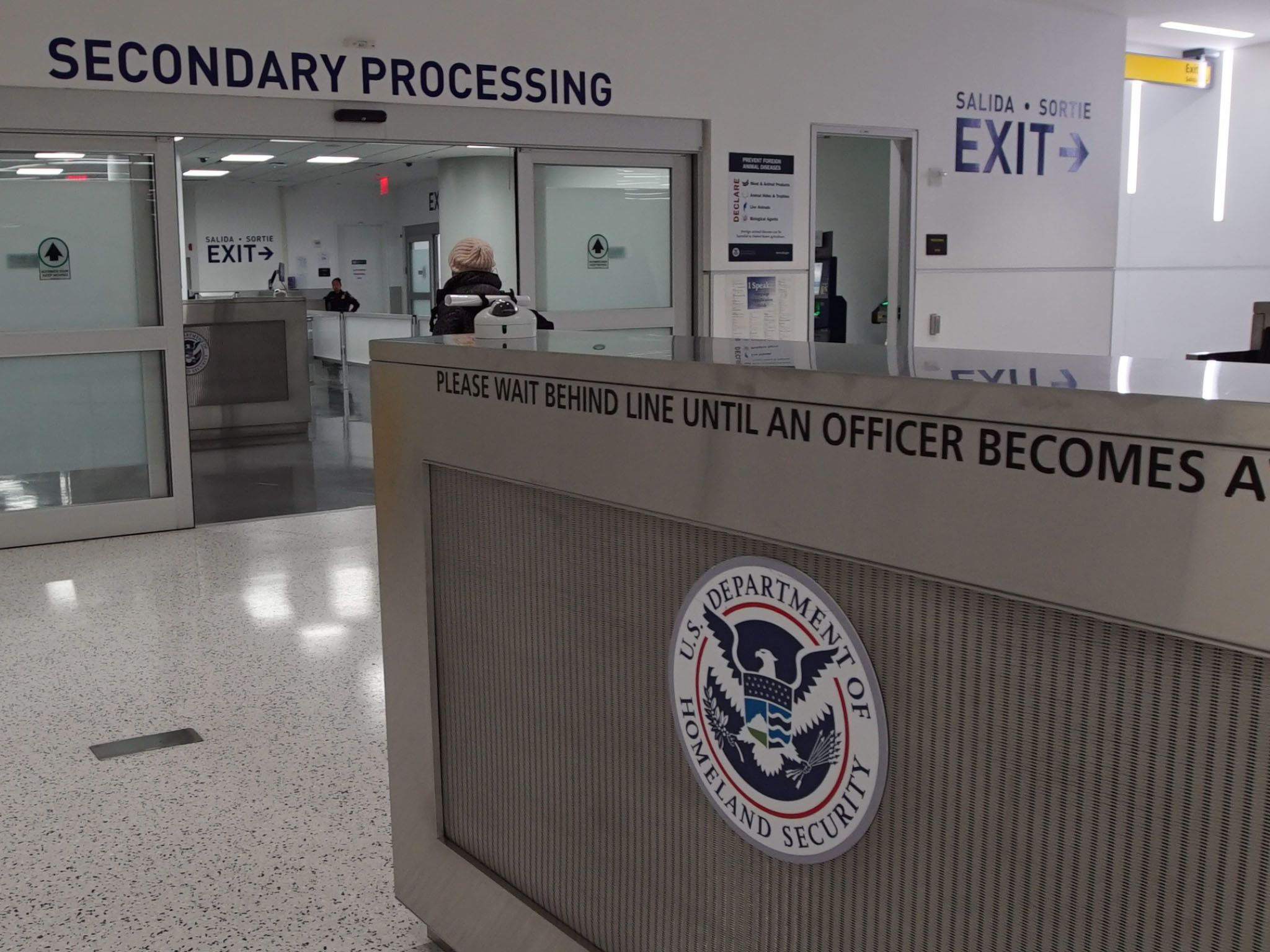 Entrance to Secondary Processing at JFK airport. This image is from To Catch A Smuggler. [Photo of the day - March 2021]
