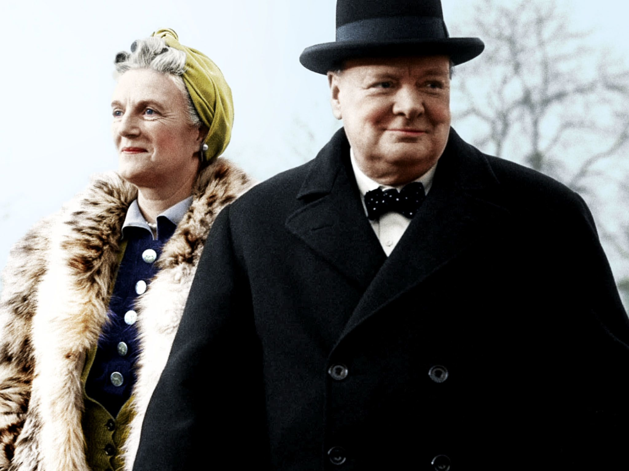 Winston Churchill and his wife Clementine. This image is from Apocalypse: Hitler Takes On The West. [Photo of the day - March 2021]