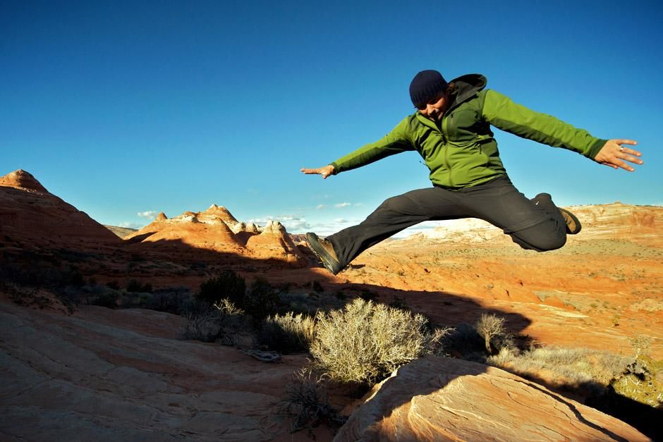 Kanab, UT, USA: Casey frozen in a leap above the desert landscape. This image is from Expedition... [Photo of the day - June 2012]