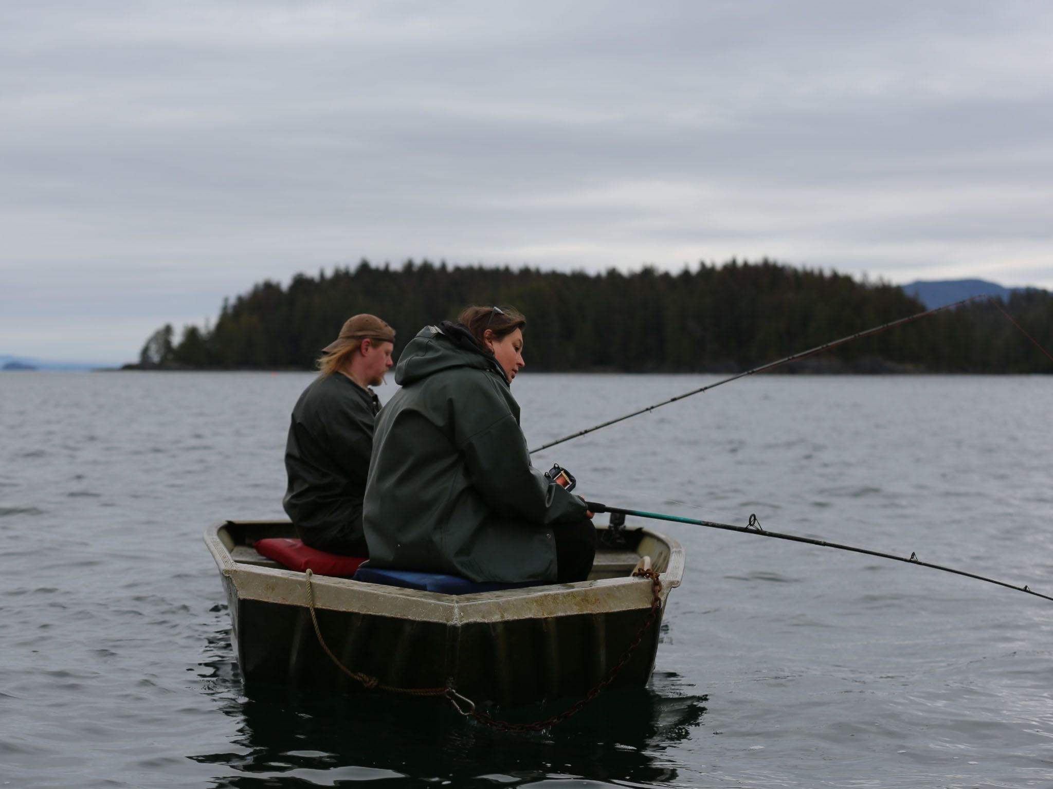 David Squibb & Kristina Jackson are out on their skiff jigging for fish on the waters outside... [Photo of the day - May 2021]