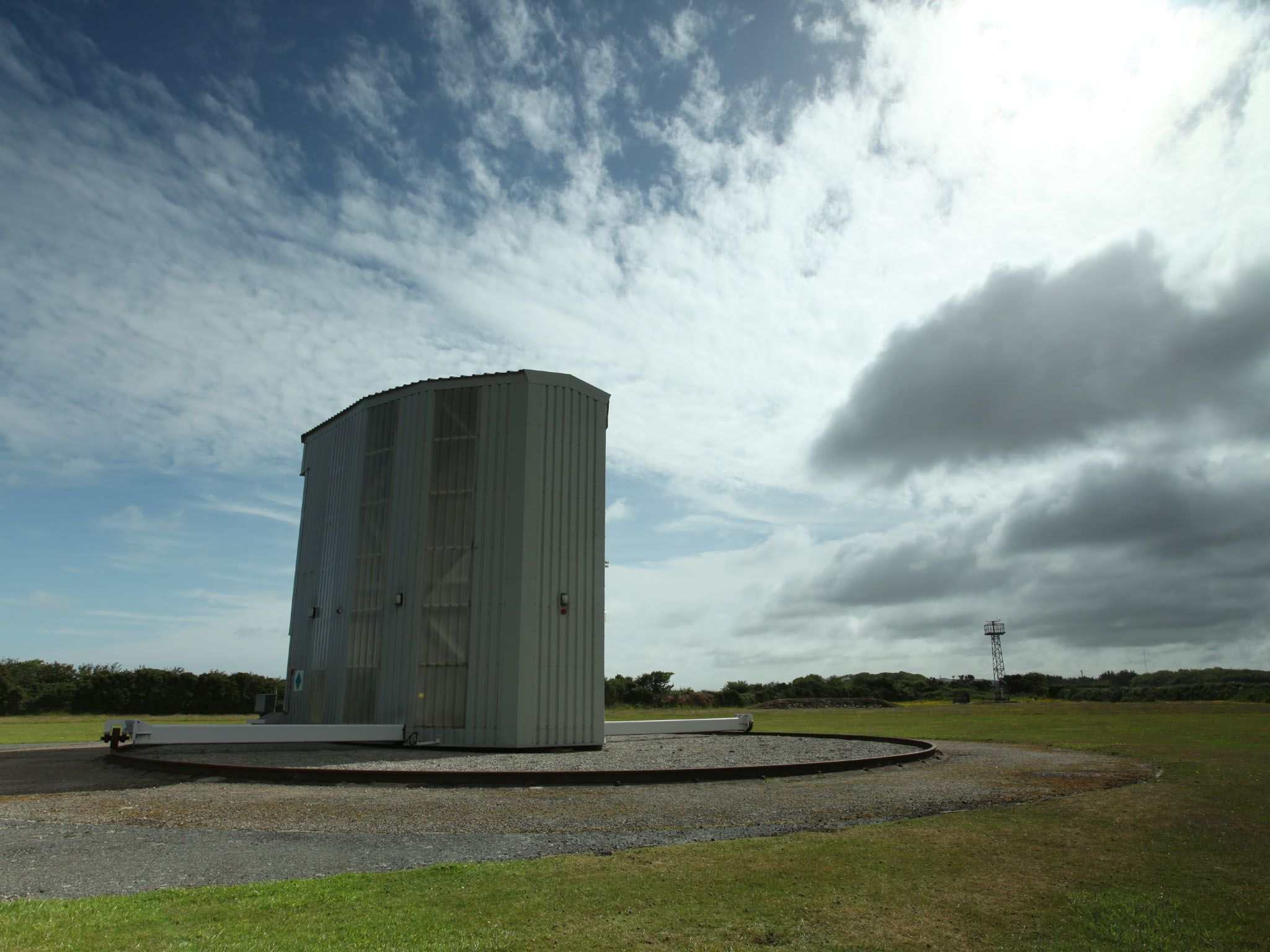 Camborne, Exeter UK:  A landscape shot of facilities used by the Met Office (UK) to release... [Photo of the day - May 2021]