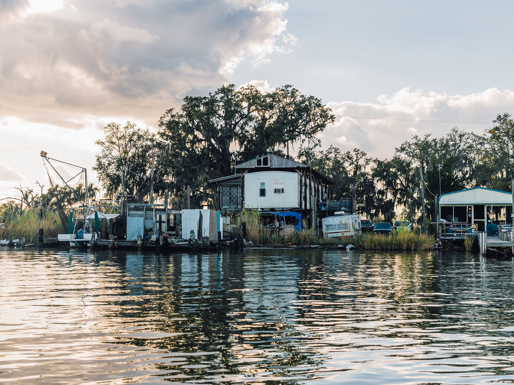 Homes on the bayou are up against frequent hurricanes and massive land loss. This is part of... [Photo of the day - June 2021]