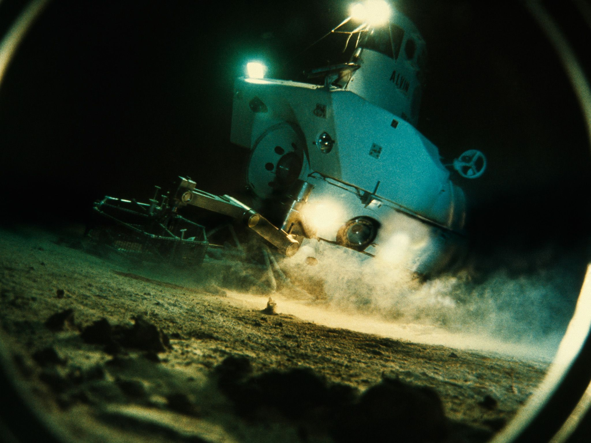 View through a porthole of the submersible Alvin exploring sea floor. This is part of Bob... [Photo of the day - June 2021]