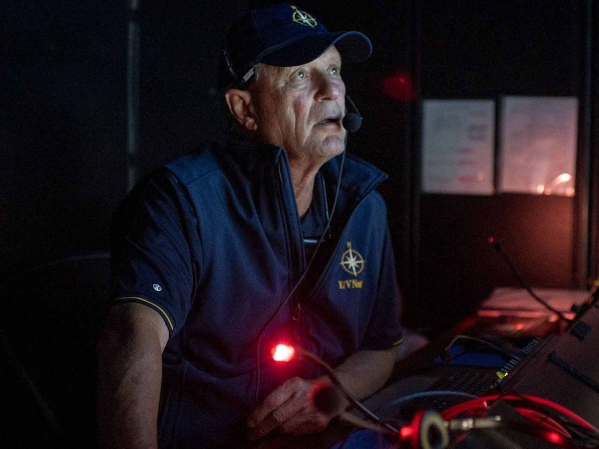 Robert Ballard in control room of the E/V Nautilus while on expedition in the South Pacific.... [Photo of the day - July 2021]