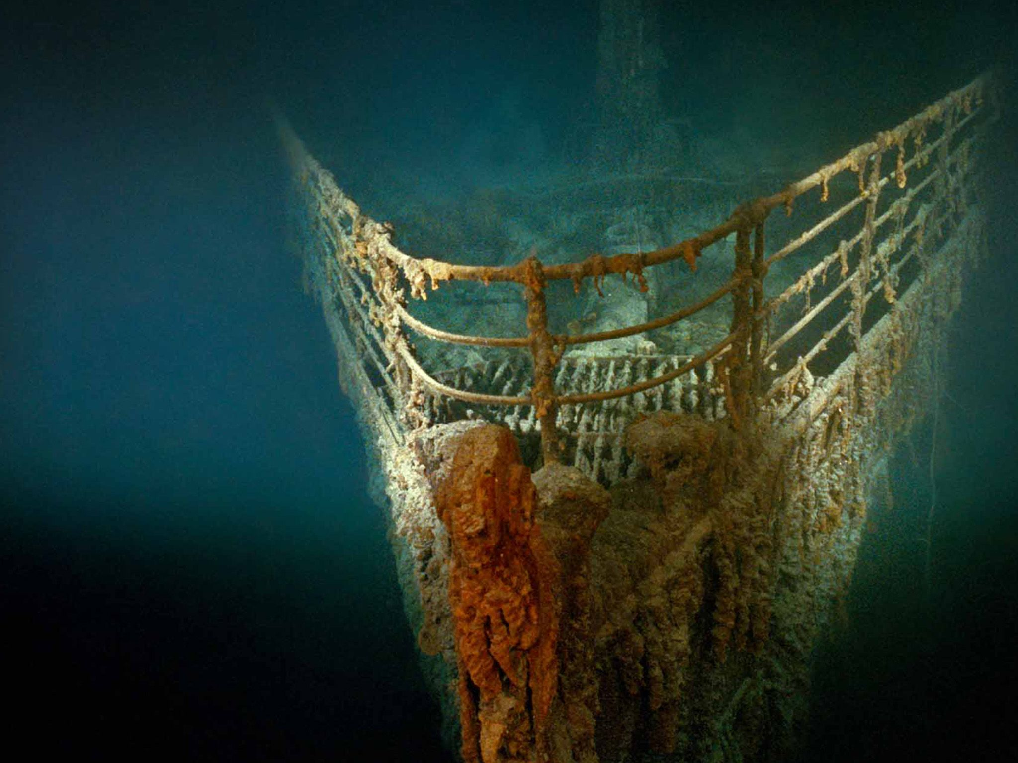 Rusted bow of the R.M.S. Titanic ocean liner in the North Atlantic. This is part of Bob Ballard:... [Photo of the day - July 2021]