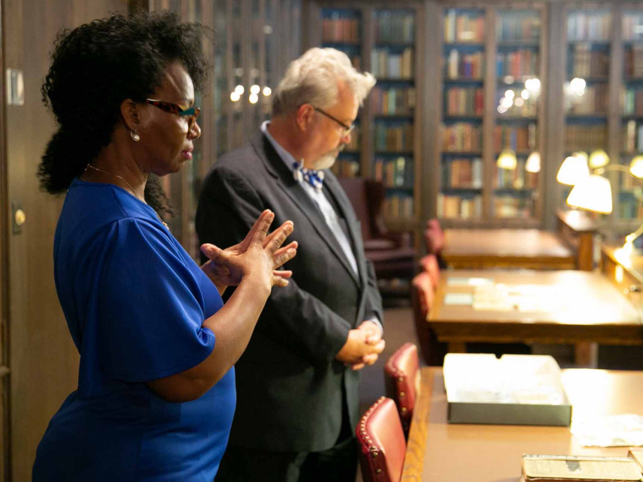 DeNeen Brown and Marc Carlson look through archives of the 1921 Tulsa Race Massacre, stored in... [Photo of the day - July 2021]