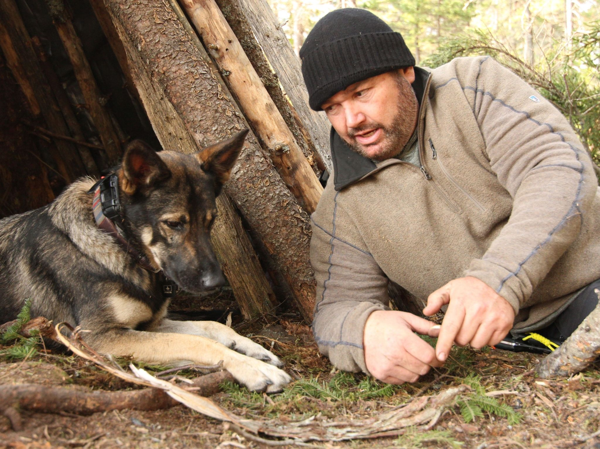 Chad talks to Nala, his young german shepherd. This is from Called to the Wild. [Photo of the day - August 2021]