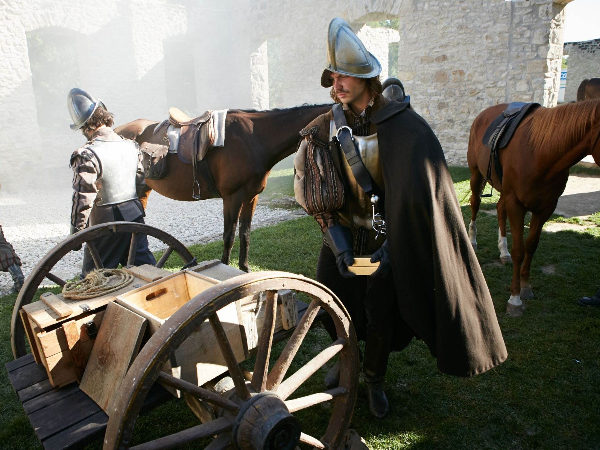 REENACTMENT- Gold bars are loaded on to the cart.  This is for The Quest for Gold. [Photo of the day - August 2021]