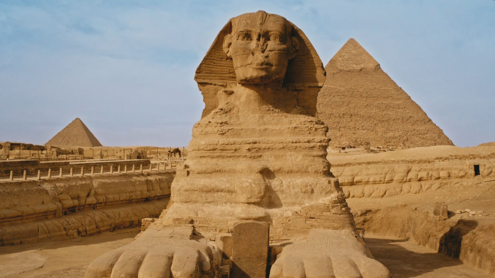 Great Sphinx of Giza. This is from Lost Treasures of Egypt, season 3. [Photo of the day - September 2021]