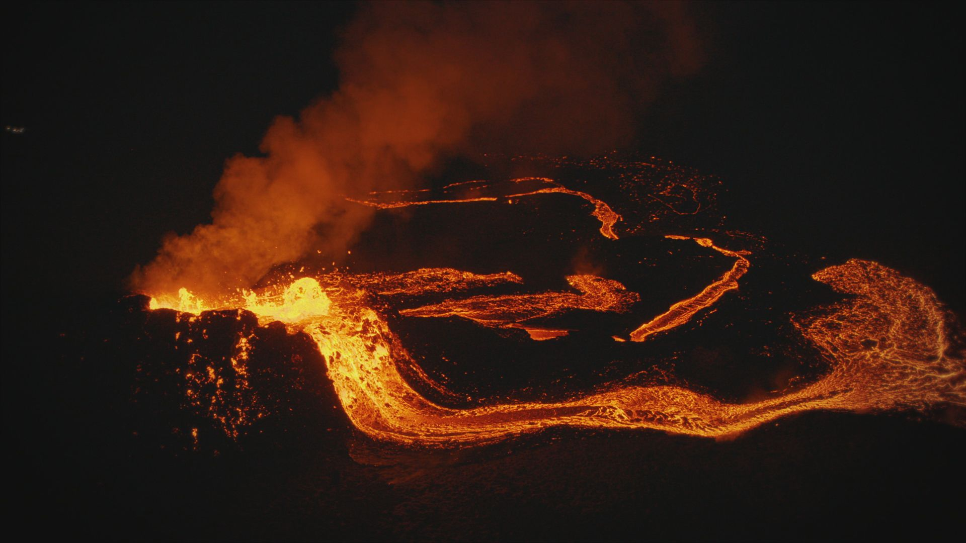 Volcano eruption. This is from Europe from above, season 4. [Photo of the day - September 2021]