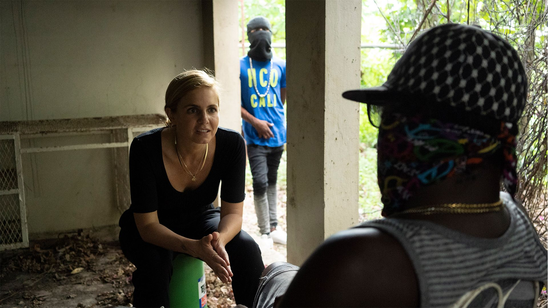 Jamaica - Mariana van Zeller (L) conducting interviews in Jamaica. This is from Trafficked with... [Photo of the day - September 2021]