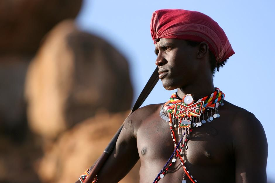Kenya: Maasai warrior Lemarti. This image is from Warrior Road Trip. [Photo of the day - ژولیه 2012]