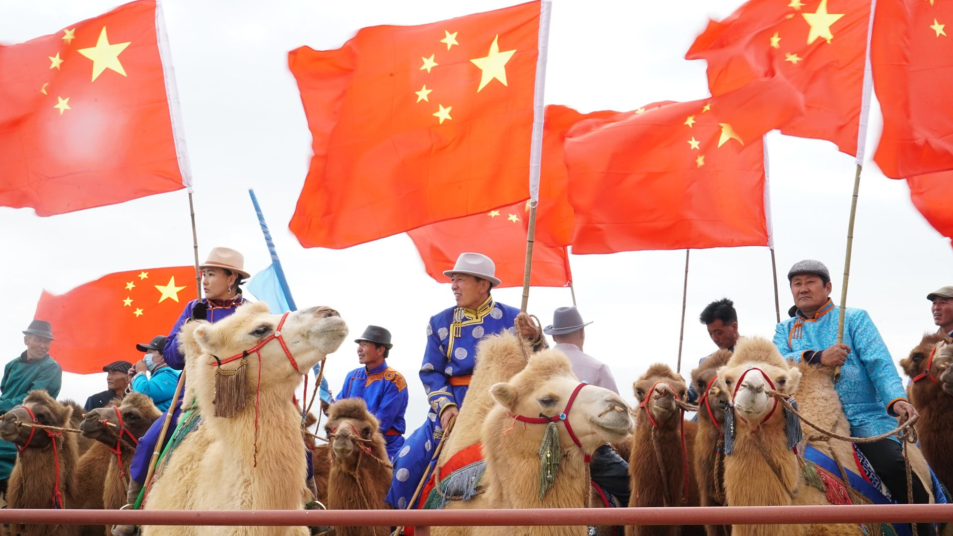 Farmers riding camels waiting for Camels' Festival's opening ceremony. This is from Tracing Heritage [Photo of the day - October 2021]