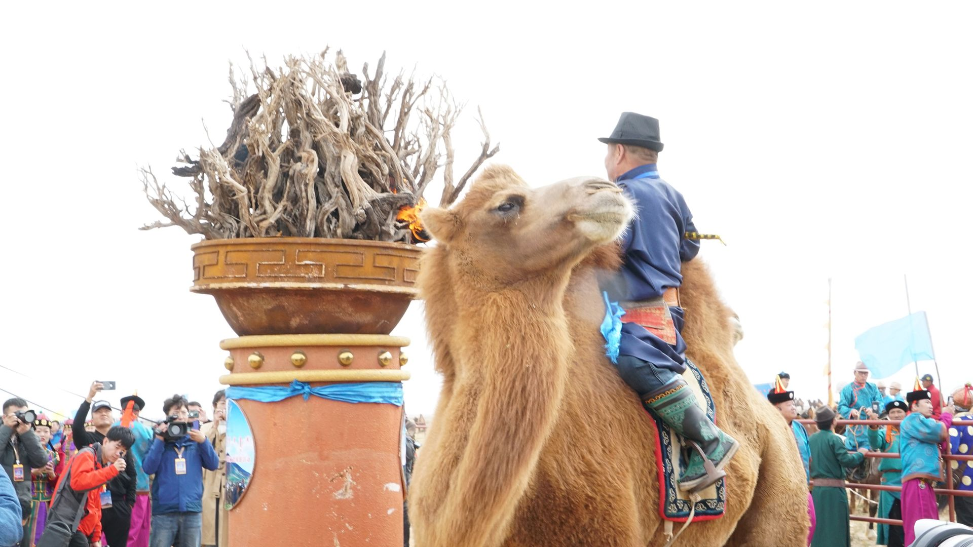 Firing ceremony at Camels' Festival's opening. This is from Tracing Heritage [Photo of the day - October 2021]