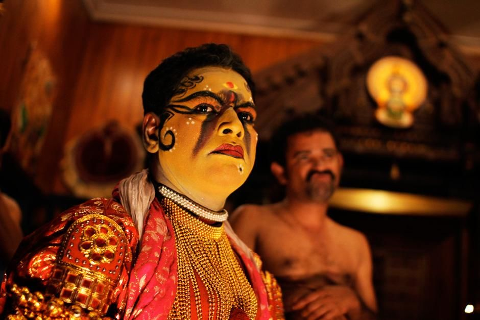 Kerala, India: A performer ready to take the stage for a Kathakali performance.  This image is... [Photo of the day - August 2012]