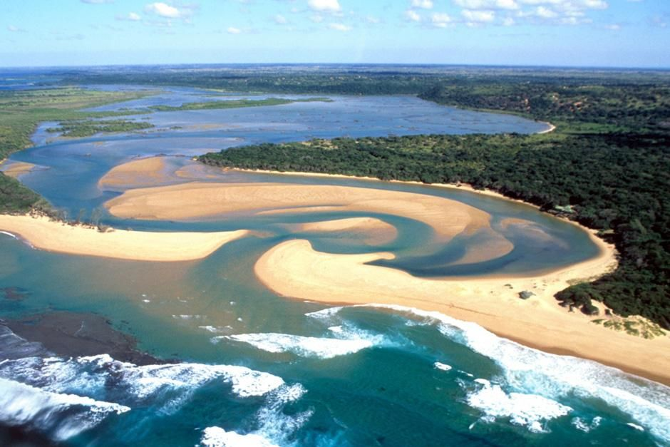Aerial view of Kosi Bay, South Africa. This image is from Fit for the Wild. [Photo of the day - October 2012]