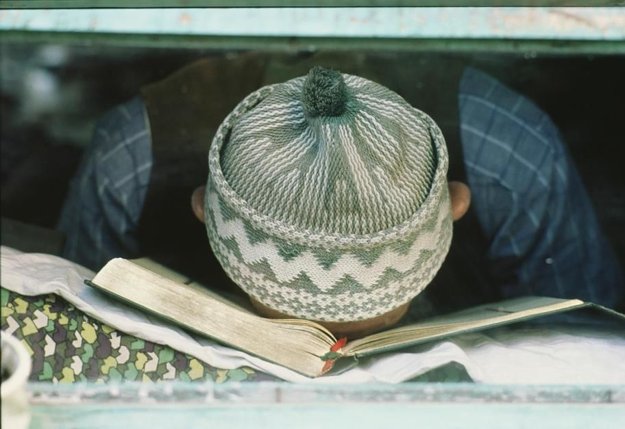 A student resting his head on a book in Safranbolu. Turkey. [Photo of the day - November 2011]