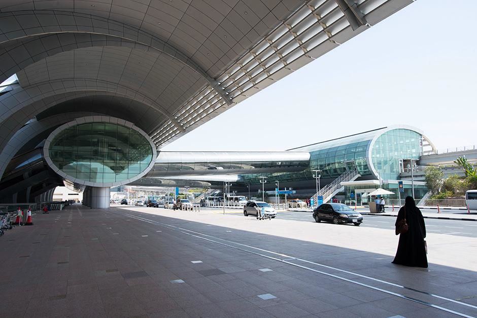 Dubai International Airport, Dubai, United Arab Emirates: The outside entrance at Dubai airport.... [Photo of the day - September 2013]