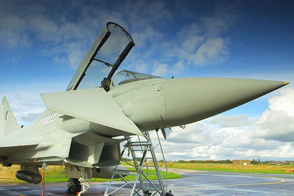 Lancashire, England: Eurofighter Typhoon at a fighter jet test facility at Wharton Aerodrome,... [Photo of the day - September 2013]