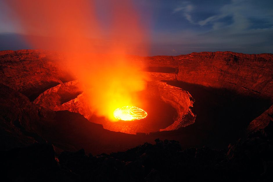 Democratic Republic of the Congo: The lava at Nyiragongo is made of an alkali-rich volcanic... [Photo of the day - October 2013]