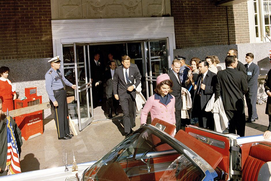 Love Field, Dallas, Texas, USA: President and Mrs. Kennedy depart the Texas Hotel for the... [Photo of the day - November 2013]