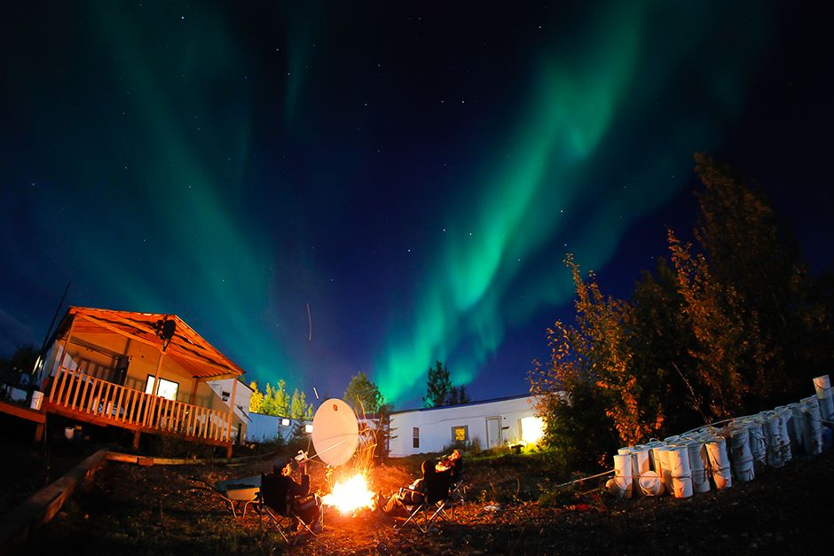 Dawson City, Yukon, Canada: The Northern Lights at Al's camp. This image is from Yukon Gold. [Photo of the day - November 2013]