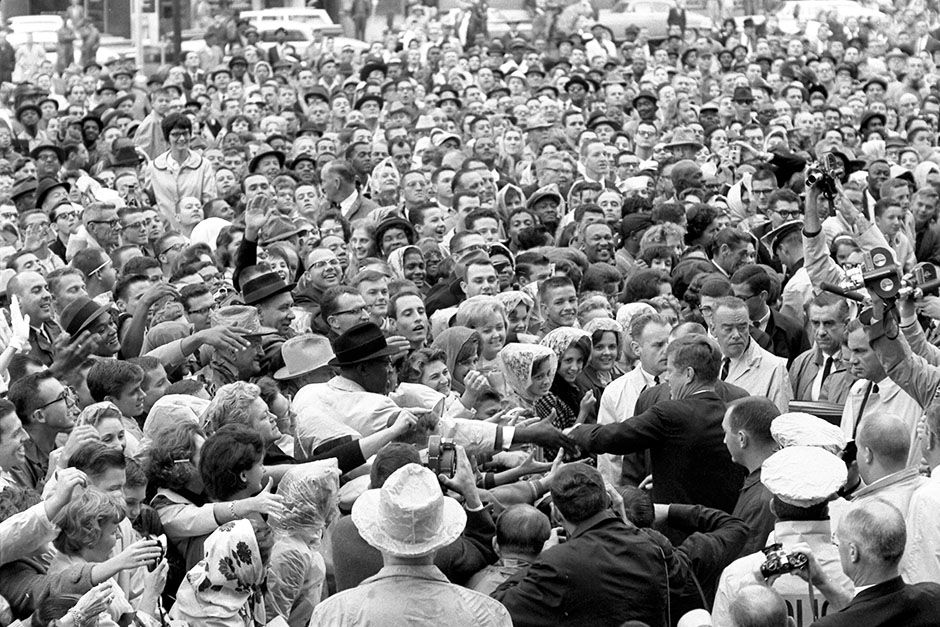 Love Field, Dallas, Texas, USA: President Kennedy wades into a crowd of well-wishers and... [Photo of the day - November 2013]