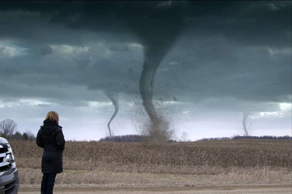 Ann Arbor, Michigan, USA: A graphic of Karen Kosiba looking at tornadoes. This image is from Top... [Photo of the day - دسامبر 2013]