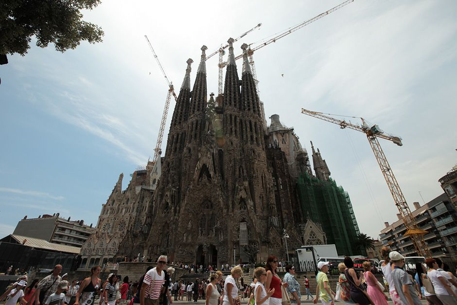 Barcelona, Spain: The Sagrada Familia (Nativity Façade).  This image is from Access 360°:... [Photo of the day - دسامبر 2013]