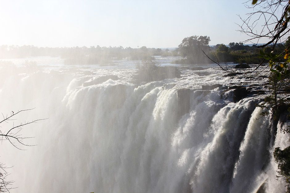 Zambia: Close up of the Victoria Falls in Zambia.  The lost diary records the final months of... [Photo of the day - دسامبر 2013]