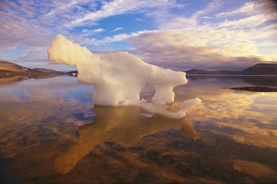 A Small Iceberg Stranded On An Ellesmere Island Shore By Ebb Tide In Nunavut Resembles